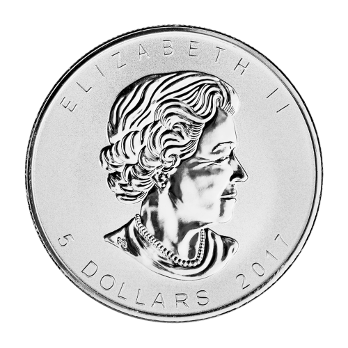 """Maple Leaf, 150th anniversary privy mark and the words """"Canada 9999 Fine Silver 1 oz Argent Pur 9999"""""""