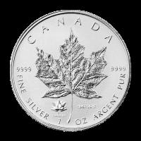 1 oz Silbermünze - kanadisches Ahornblatt 150. Jubiläum Sonderprägezeichen - Polierte Platte (invertiert) 2017