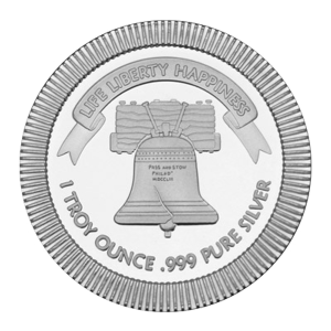 1 oz Silvertowne Liberty Bell Stackable Silver Round