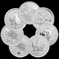Nuestra Elección de Moneda de Plata Surtida Fuera de Circulación Marca Privada Acuñación Soberana de 1 oz