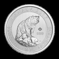 1,5 oz Silbermünze - kanadischer Graubär - 2017