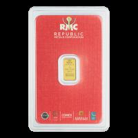 1 g Republic Metals Corporation Gold Bar