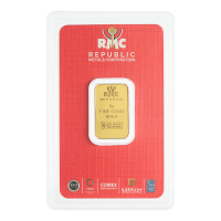 5 gram Republic Metals Corporation Gold Bar
