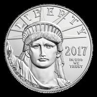 1 oz Platinmünze - amerikanischer Adler - 2017