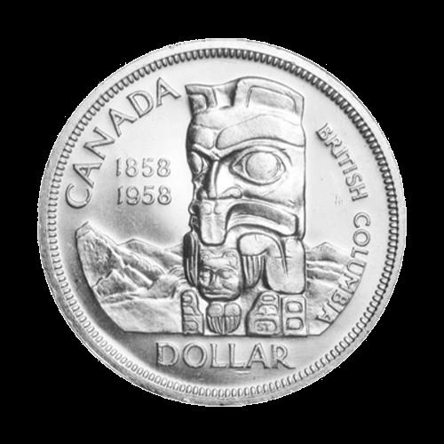1958 Canadian Silver Dollar $1 Face Value Circulation 80% Pure Silver Coin
