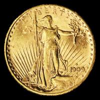 Random Year $20 Saint-Gaudens Double Eagle AU Gold Coin