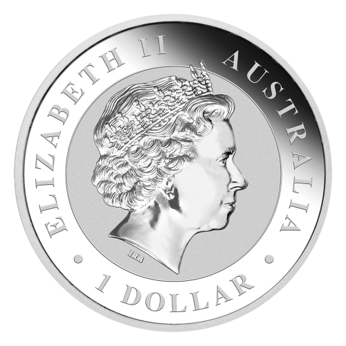 """Wedge tailed eagle perched on a branch and the words """"Australian Wedge Tailed Eagle 2017 1 oz 999 Silver"""""""