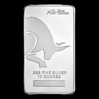 10 oz Silver Gold Bull Silver Bar   AT SPOT PRICE   Sunshine Minting