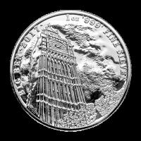 Monumentos de Gran Bretaña 2017 de 1 oz | Moneda de Plata Big Ben