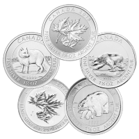 1.5 oz Random Year Our Choice of Royal Canadian Mint Silver Coin | Toned and Spotted
