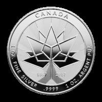Ronda de Plata 150° Aniversario de Canadá 2017 de 1 oz