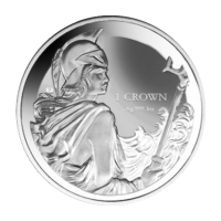 Moneda de Plata Reverso Proof Britannia Islands Falkland 2017 de 1 oz