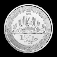 Moneda de Plata Voyageur Edición Especial 150° Aniversario Canadiense 2017 de 1 oz