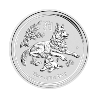 1/2 oz 2018 Perth Mint Lunar Year of the Dog Silver Coin