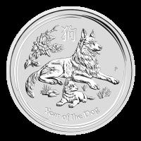 1 oz 2018 Perth Mint Lunar Year of the Dog Silver Coin