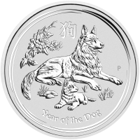 1 kg | kilo 2018 Perth Mint Lunar Year of the Dog Silver Coin