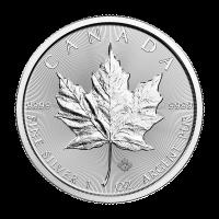 Moneda de Plata Hoja de Arce Canadiense 2018 de 1 oz