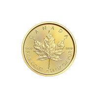 1/4 oz 2018 Canadian Maple Leaf Gold Coin