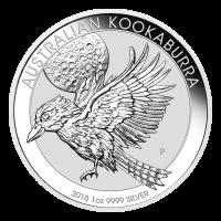 1 oz Silbermünze australischer Kookaburra 2018