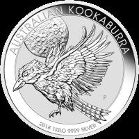 Moneda de Plata Cocaburra Australiano 2018 de 1 kilo