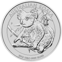 Moneda de Plata Koala Australiano 2018 de 1 kilo