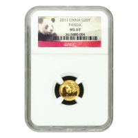 1/20 oz 2011 Chinese Panda NGC MS 69 Gold Coin