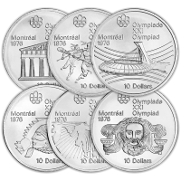 Assorted $10 Montreal Olympic Sterling Silver Coin