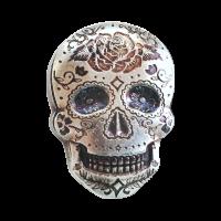 2 oz Monarch Precious Metals Hand Poured Rose Sugar Silver Skull