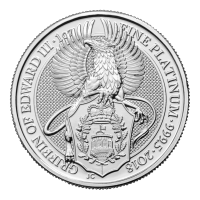 1 oz 2018 Royal Mint Queen's Beasts | Griffin of Edward III Platinum Coin