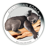 1 oz 2012 Coin Show Special Australian Koala Coloured Silver Coin