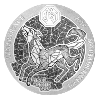 1 oz 2018 Rwanda Lunar Year of the Dog Silver Coin