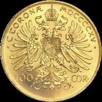 Random Year Austrian 100 Corona Gold Coin
