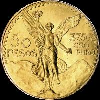 37.5 gram Random Year Mexican 50 Peso Gold Coin