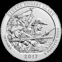America the Beautiful 2017 de 5 onces | George Rogers Clark