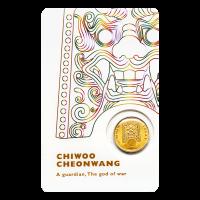 1/10 oz 2017 South Korean Chiwoo Cheonwang (White Assay) Gold Round