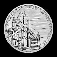1 oz 2018 Landmarks of Britain | Tower Bridge Silver Coin