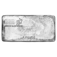 100 oz Canadian Silver Refiners Poured Silver Bar