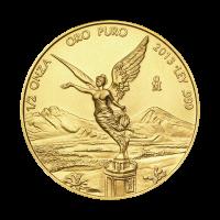 Moneda de Oro Libertad Mexicana 2013 de 1/2 oz