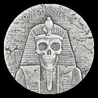 Serie Reliquias Egipcias 2017 de 2 oz | Moneda de Plata Después de la Vida - Faraón Ramsés II