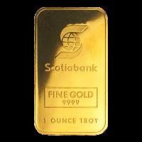 1 oz Johnson Matthey Scotiabank Gold Bar