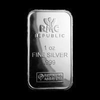 Barra de Plata Republic Metals Corporation de 1 oz