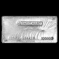 100 oz Engelhard Vintage Silver Bar