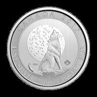 3/4 oz 2017 Moon Wolf Silver Coin