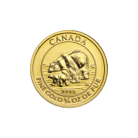 1/4 oz 2015 Canadian Polar Bear and Cub Gold Coin