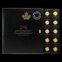 25 g (25 x 1 g) 2018 MapleGram25 Sheet of Gold Coins