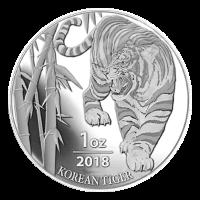 Ronda de Plata Tigre Surcoreano 2018 de 1 oz