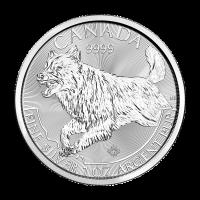 Moneda de Plata Lobo 2018 de 1 oz | Serie Depredadores