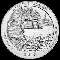 5 oz 2018 America the Beautiful | Apostle Islands Silver Coin