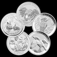 1 kg   kilo Perth Mint Assorted Silver Coin