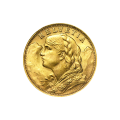 Random Year 20 Swiss Franc Gold Coin